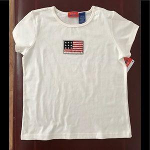 Celebration Nation Shirts & Tops - 👚 CELEBRATION NATION kid's tee, sequin flag NWT